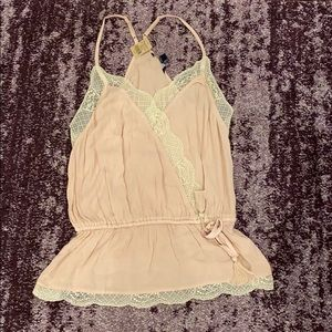 American eagle outfitters lace tank top